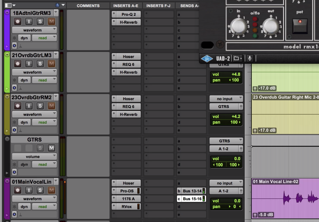 Pro Tools screenshot